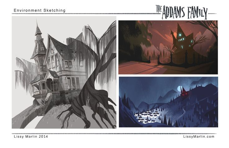 The Addams Family: The Musical - Visual Development