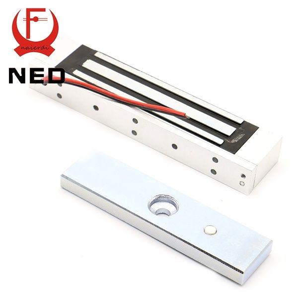 Ned Single Electric Light Door Lock 12v Magnetic Electromagnetic Lock 180kg 350lb Holding Force For Access Control System Access Control Door Locks Magnetic Lock