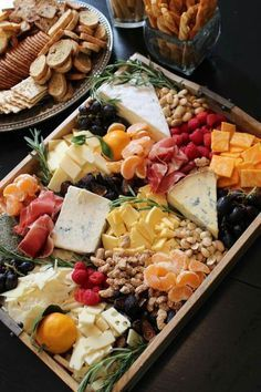 Fruit cheese tray