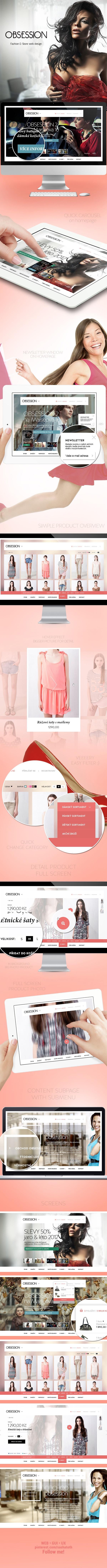 Obsession - Fashion E-Store web design by Jan Vašek, via Behance