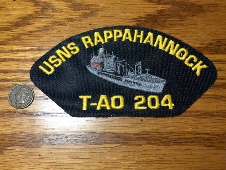 USNS Rappahannock T-AO 204 Fleet Oiler Ship Military US Navy Hat Patch by PickledPterodactyl on Etsy
