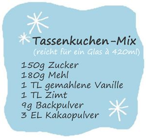 Elly's Art: Adventskalender 2012 - 23 - Schneller Tassenkuchen