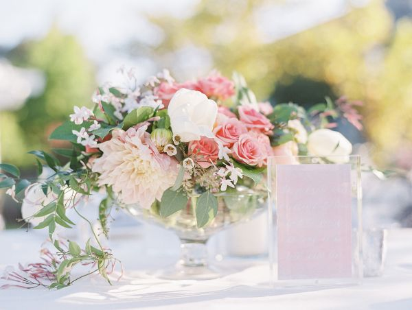 Pink and Green Garden Wedding Centerpiece | photography by http://www.loriphoto.com