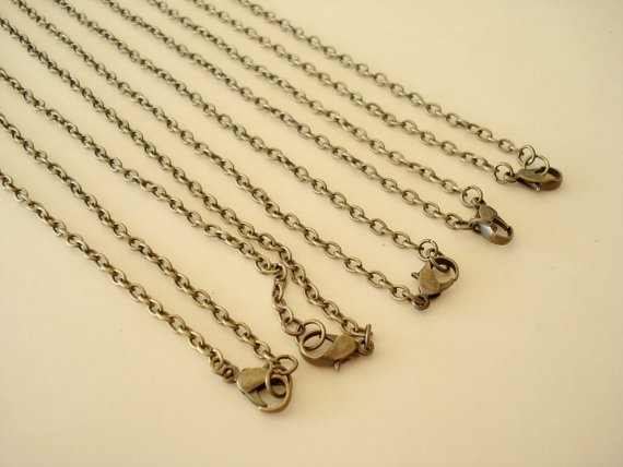 10sets Ball Chain 508mm Antiqued Bronze Metal by yooounique