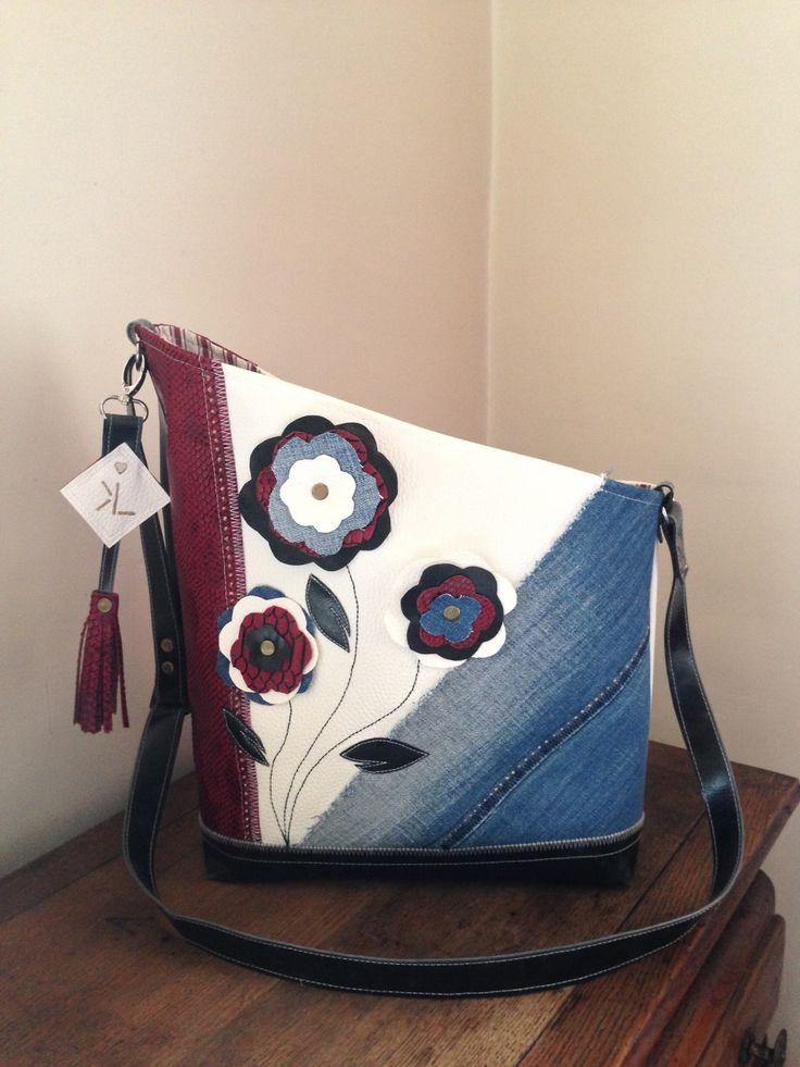 Sac jean et simili a bandouliere le Flory : Sacs à main par sur-fil