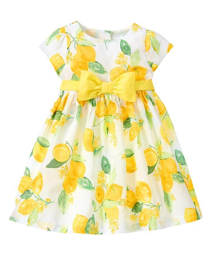 Gymboree Toddler Girl Sunny Lemon Print Dress