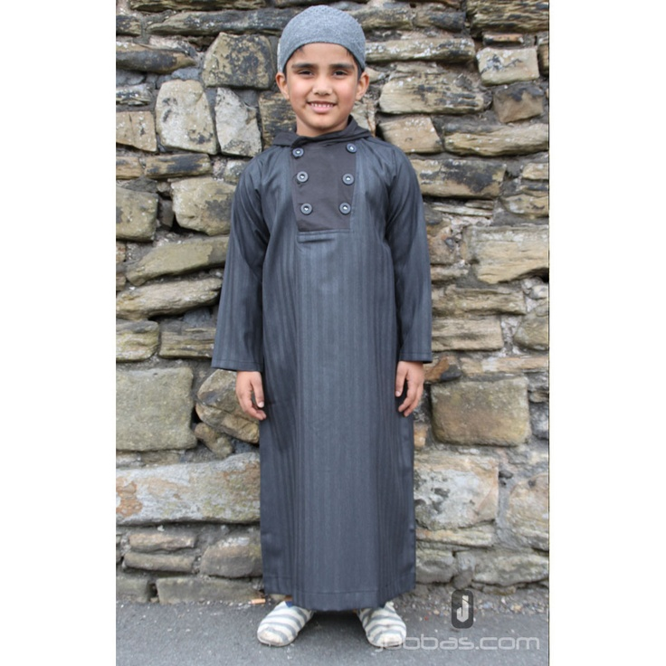 Boys Buttoned Hooded Jubbah 2012