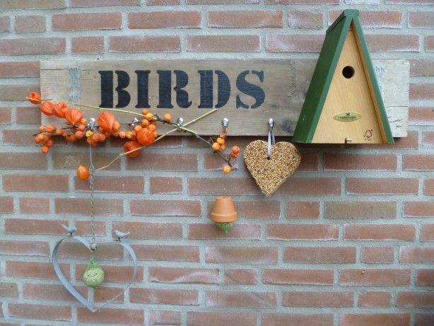 Gepimpte+steigerplank+voor+de+winter+vogeltjes.