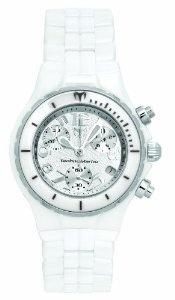 TechnoMarine Women's TC05C MoonSun Ceramic Silver-Plated White Watch