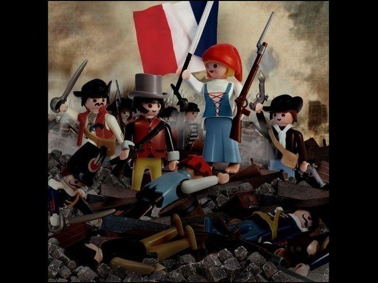 """ART HISTORY playmobil ~ DELACROIX - Richard Unglik Playmobil (""""La liberté guidant le peuple"""" - Eugène Delacroix)"""