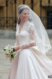 Kate Middleton in her lacy wedding dress