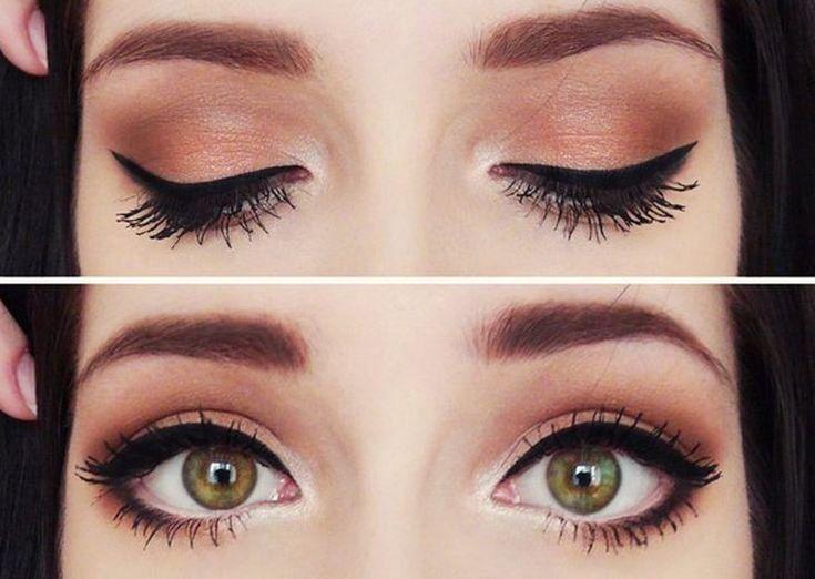 maquillaje de ojos con delineador blanco para resalzar