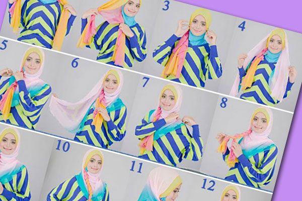 Jika kamu ingin tampilan berjilbab sehari-hari yang terlihat berbeda, menarik, dan lebih playful, namun tetap memberikan kesan simple dan anggun, ini dia kreasi jilbab yang tepat untuk kamu. Kombinasi dari dua jilbab berwarna berikut ini patut kamu coba.
