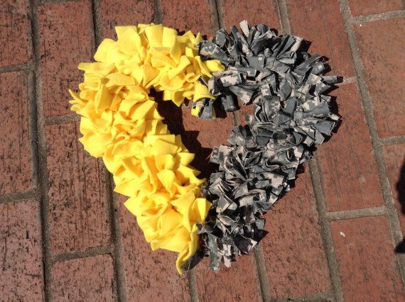 Deployment wreath, yellow ribbon wreath, military wreath, heart wreath, half my heart is deployed, ACU wreath,