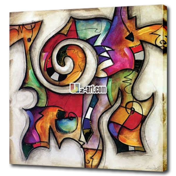 minyak buatan tangan lukisan abstrak di atas kanvas dekorasi rumah