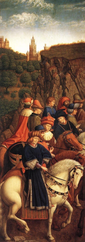 JAN VAN EYCK (1395-1441) - The Ghent Altarpiece -  The Just Judges - 1432. Sint-Baafskathedraal (Cathedral of St Bavo), Gent, Belgium.