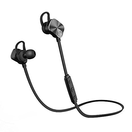 Bluetooth Sports Headphones, [Modified Version]Mpow® Wireless Bluetooth 4.1 Sport Headphones Sweatproof Stereo Earphones with Mic for Running for All Bluetooth Smartphone : iPhone , Samsung , HTC etc., Black(Non-magnetic Control)
