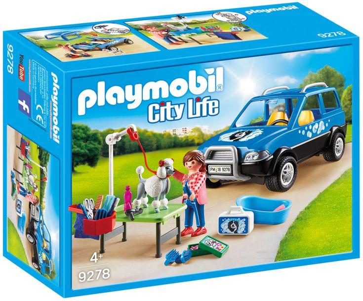 playmobil city life 9278  toiletteuse avec véhicule