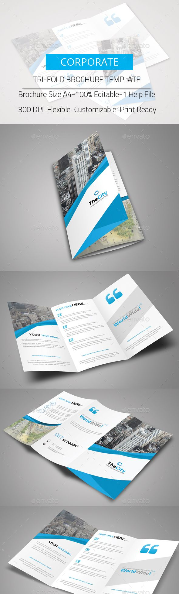 Tri-Fold Brochure Template PSD #design Download: http://graphicriver.net/item/trifold-brochure/13843699?ref=ksioks