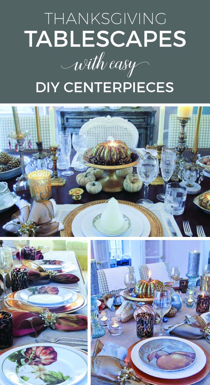 Simple dinner table setting - Thanksgiving Tablescapes Thanksgiving Dinner Tablesdinner Table Settingsdiy