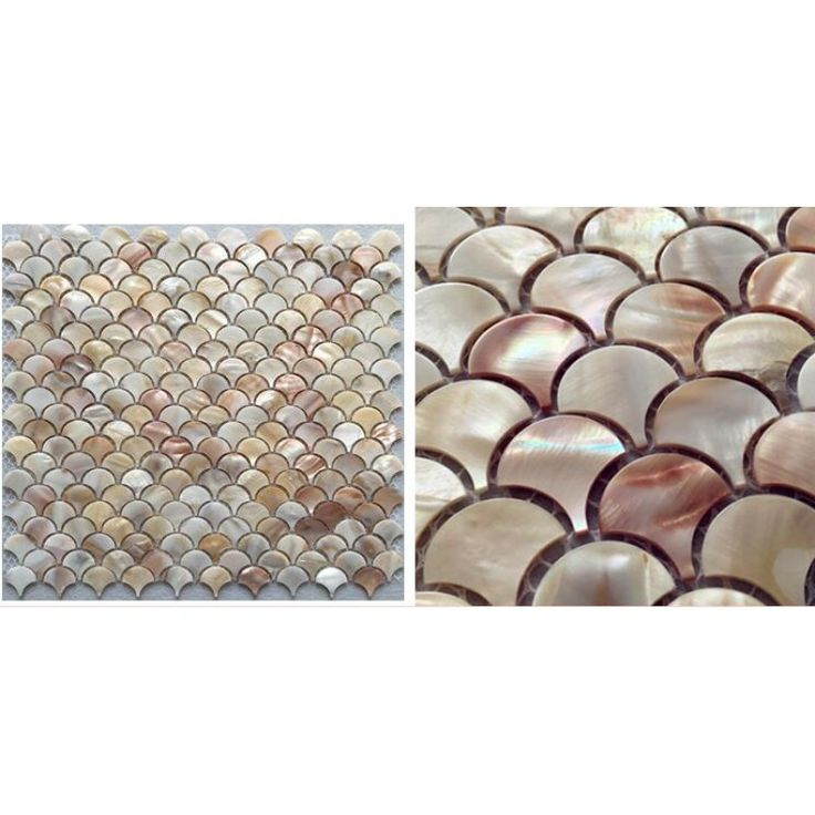 Abalone shell tile backsplash mother of pearl mosaic unique design in fish scale bathroom showers kitchen backsplash cheap wall tiles ST100; Size: 300x300x2mm; Color: White; Shape: Sector; Usage: Backsplash & Wall