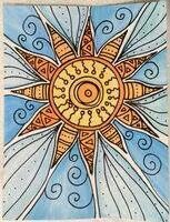 Good Sunday Morning. 6/22/14 Doodling up The First Sun of Summer