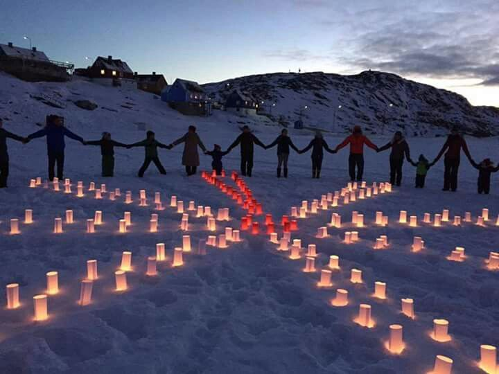 For Knæk Cancer. Ilulissat, Greenland