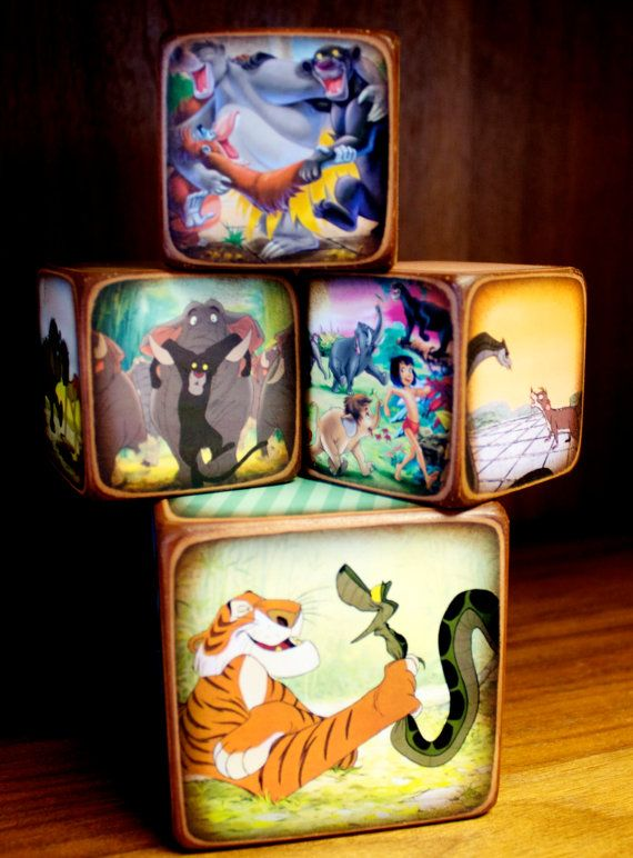 Jungle Book Blocks by ChickenDoodles on Etsy