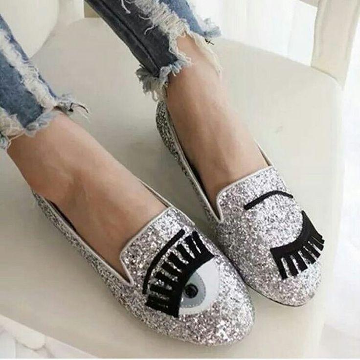 Schuhe glitzer augen