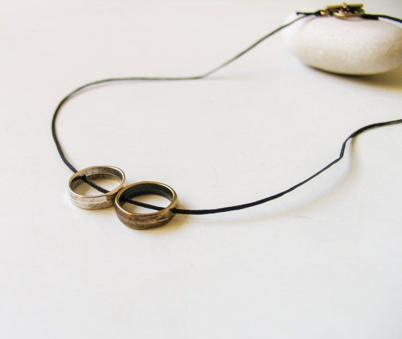 Eternal Love Circle Geometric Necklace Circle by totalhandmadeD