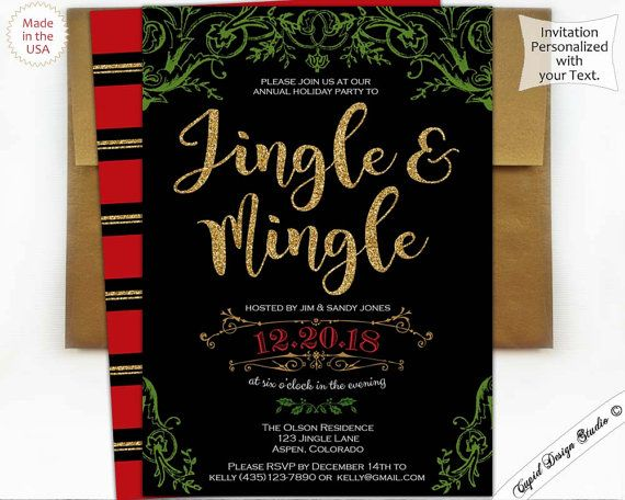 182 best Christmas\/Holiday Party essentials images on Pinterest - holiday party invitation