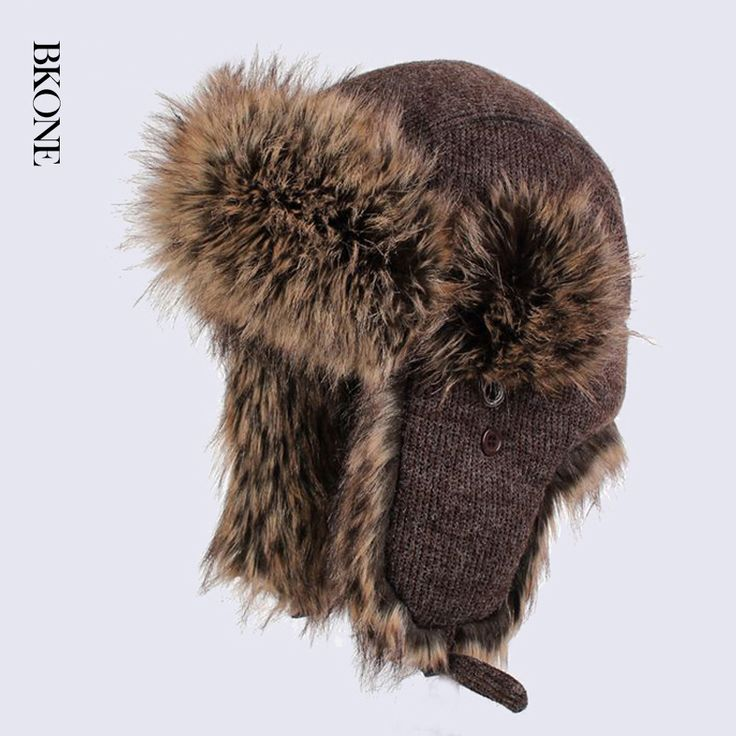 ==> [Free Shipping] Buy Best BKONE Fashion Trooper Russian Winter Hats Wool Knitted Warm Hat Unisex Faux Rabbit Fur Bomber Hats Earflap Snow Caps Online with LOWEST Price | 32745472128