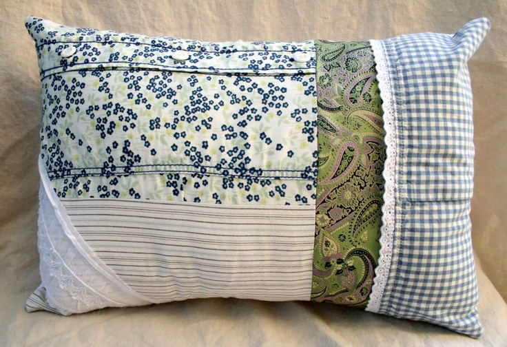 Ready, Set, Craft!: Guest Post: Repurposed Clothes Collage Pillow