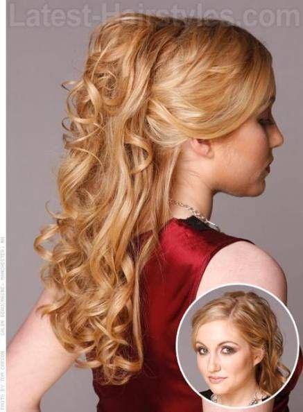 Wedding ceremony hairstyles half up half down princesses promenade hair 61 Concepts