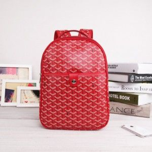 sac à dos goyard rouge 1.Marque  : goyard 2.Style  : Sac à dos Goyard 3.couleurs : Rouge 4.Matériel :PVC avec cuir 5.Taille: W25cm×H32cm×D8cm