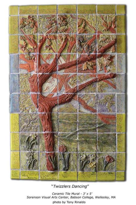 The_Ceramic_Twizzler_Mural - clay tile mural.  Love this!!