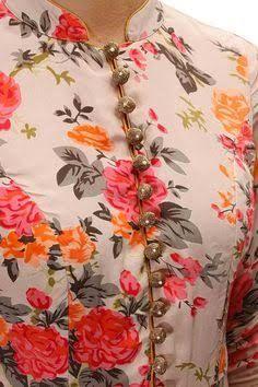 Image result for contrast kurta neck designs
