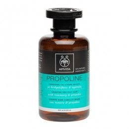 PROPOLINE Shampoo for Oily Hair with rosemary & propolis #BalancingEffectofOiliness #IndepthCleansing #Shine #Volume # The Shampoo for Oily Hair cleanses in depth and contributes to the regulation of oiliness without causing irritations. It is ideal for frequent use, providing hair with shine and volume. Read more at www.apivita.com