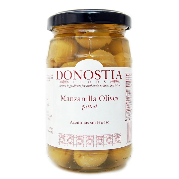 """Manzanilla olives are a necessary ingredient in many pintxos, including the """"Gilda"""". Or, throw some in a nice little bowl and eat them all by themselves. That's a nice tapa, too."""