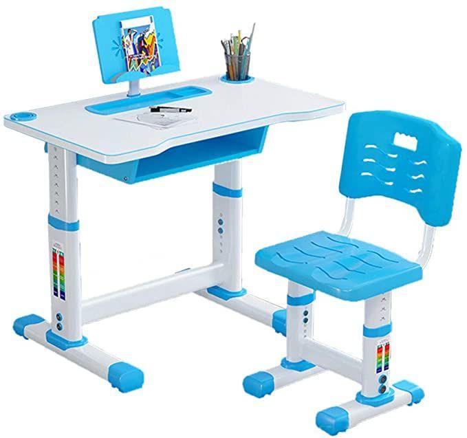 Amazon Com Puteardat Children Desk Kids Desk And Chair Set Height Adjustable Children Study Table Desk And Chair Set Kids Desk Chair Childrens Desk And Chair Child desk and chair set