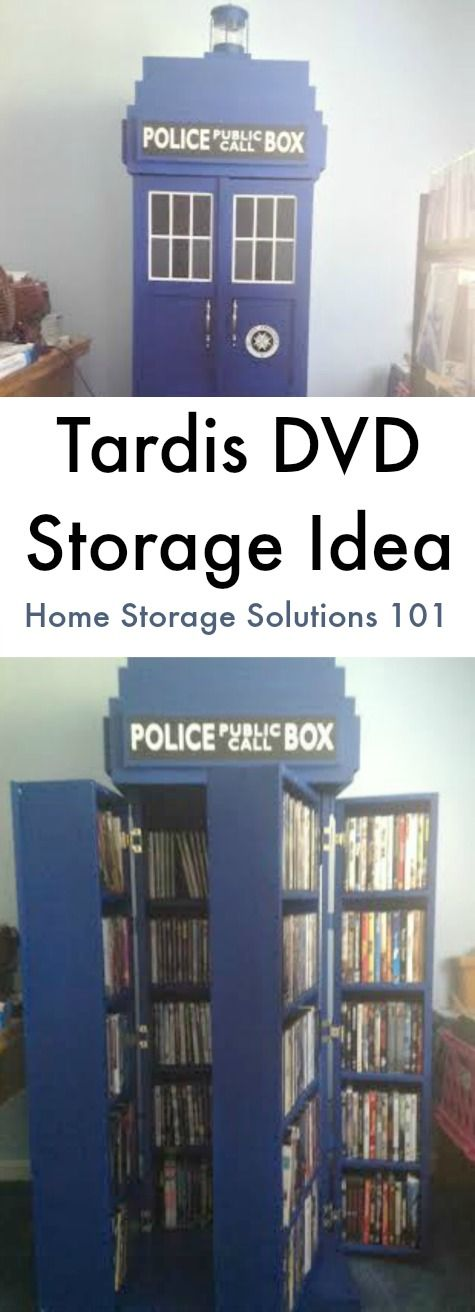Tardis DVD storage idea for Doctor Who fans - how fun is this?