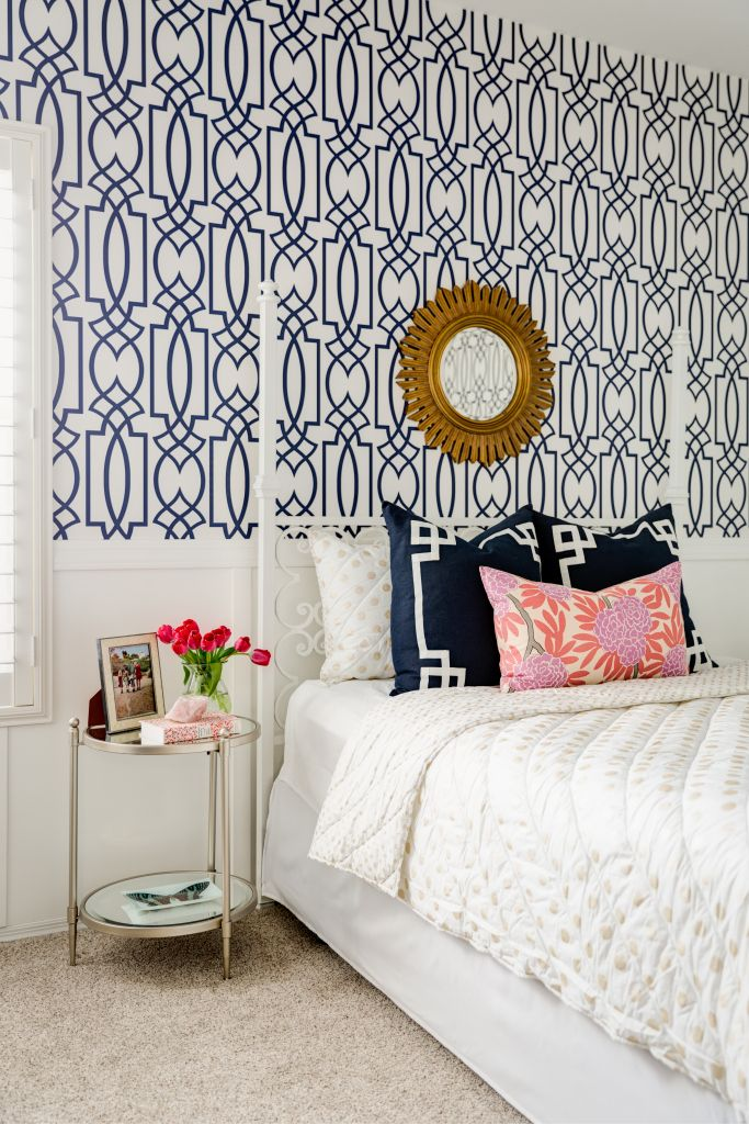 Lexi Westergard Design | Vermont Remodel | Little Girls Room | Geometric Wallpaper