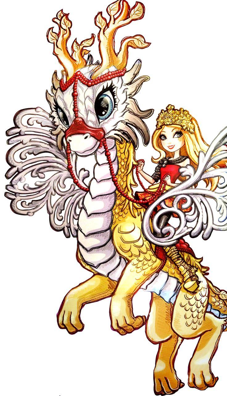 Apple White and Braeburn Dragon. Dragon Games. NEW Profile art