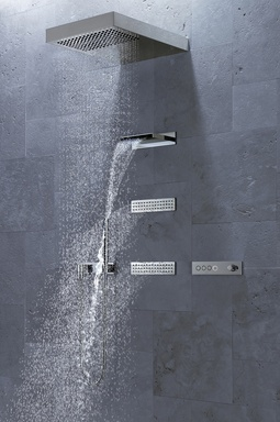 Elegant shades of grey and innovative control technology by Dornbracht _