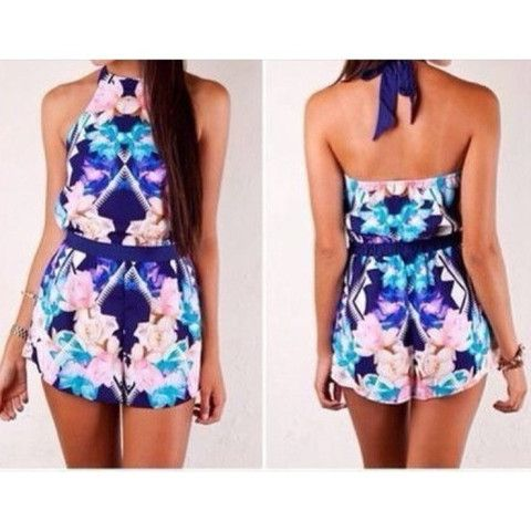 New Geometric Playsuit available now at Ruby Liu! ♡ http://rubyliuboutique.com/collections/jumpsuits