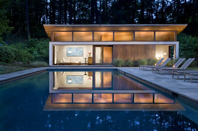 10 best images about pool cabana guest house on for Modern house 46