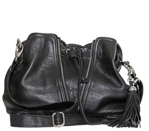 Becky Black Mini Leather Handbag