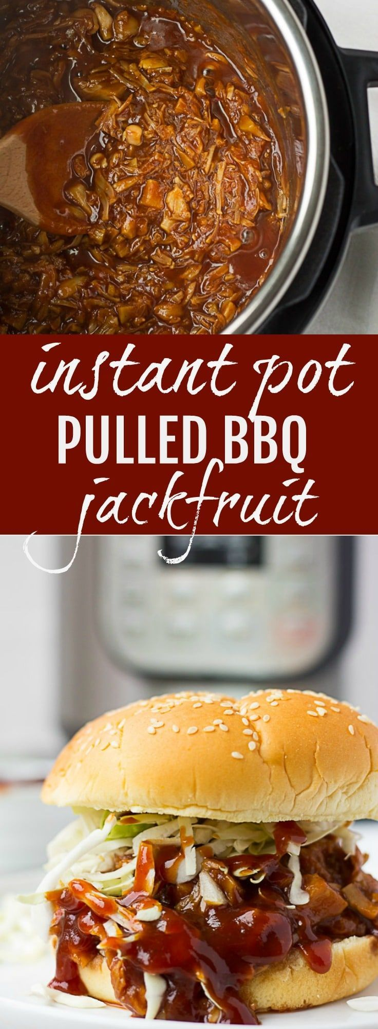 Instant Pot Pulled BBQ Jackfruit | Nora Cooks