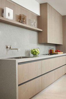 hout | beton | greeploos | strak | design | inspiratie | modern | keuken