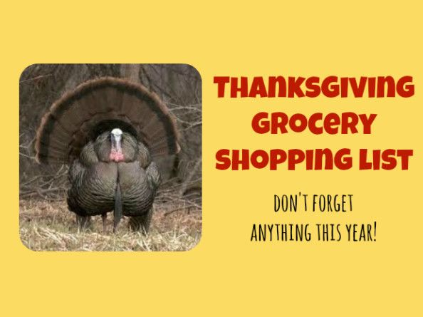Here is the Thanksgiving Shopping List that I have created with items that can be purchased now, for all the staples necessary for the special day
